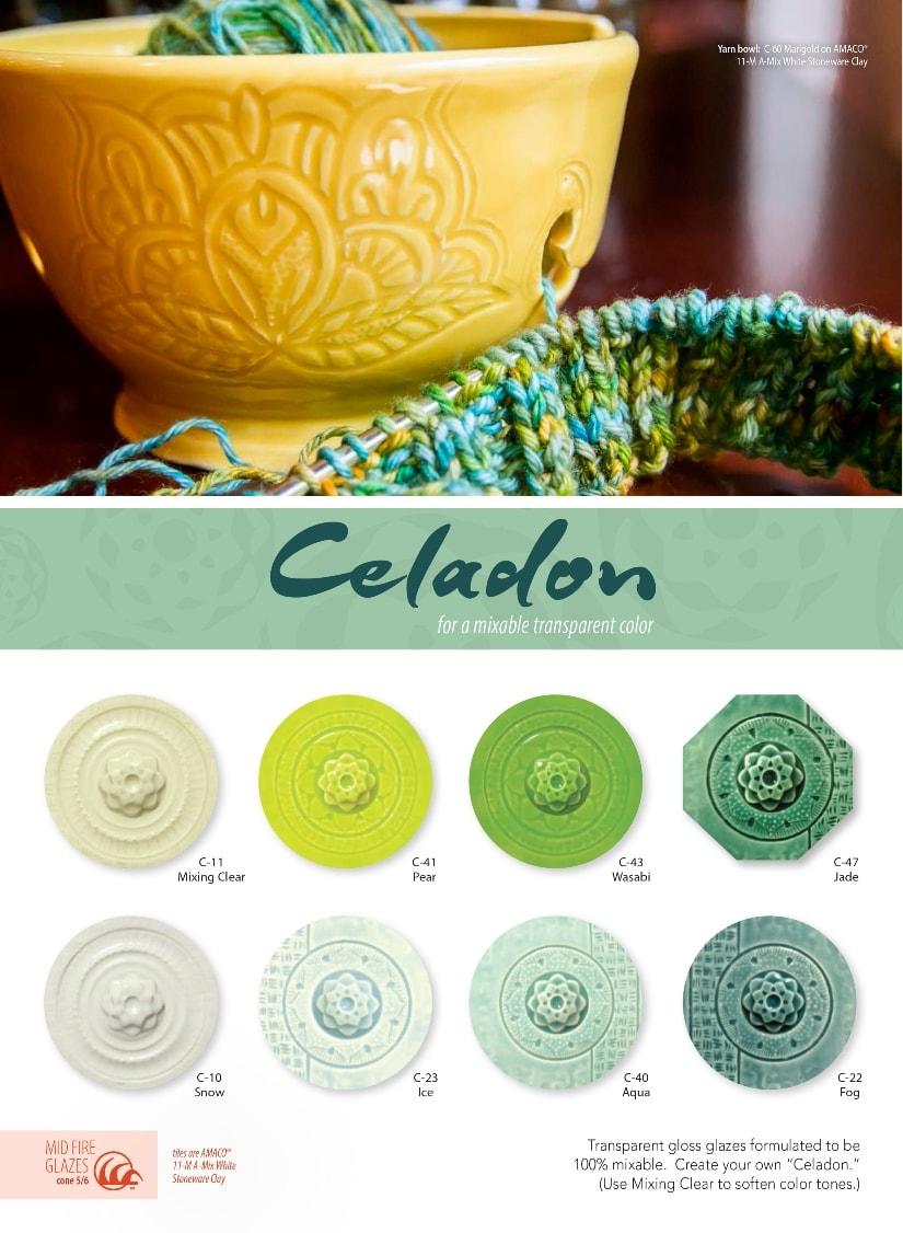 AMACO Celadon Glazes