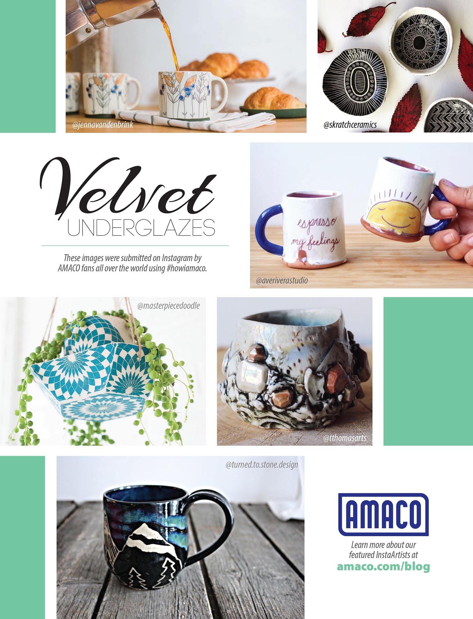 AMACO Velvet Underglazes