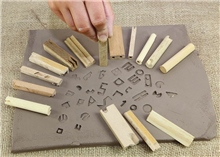 Scarva Tools Wooden Impress Stamps - 15 Set