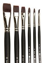 Scarva 6 Piece Acrylic Flat Brush Set