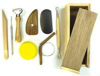 Professional 8 Piece Pottery Set With Wooden Box by Scarva Tools