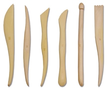Scarva Tools 6 Wooden Sculpting Tool Set of 6