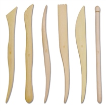 Scarva Tools 8 Wooden Sculpting Tool Set of 6