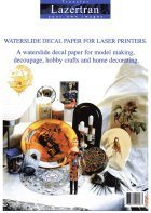 Lazertran Waterslide Decal Paper for Laser Printers