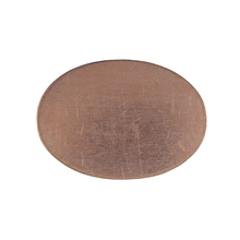 W G Ball Flat Oval 25mm x 18mm