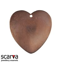W G Ball Small Heart Domed 25mm x 20mm