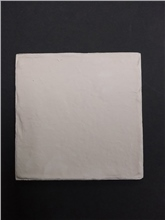 H & E Smith Square Bisque Unglazed Tile 5 x 5 | 125mm x 125mm x 8mm - Rustic Chipped Edge