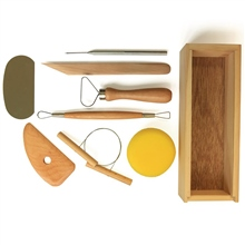 Scarva Tools Pottery Starter Set With Wooden Storage Box