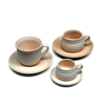 Scarva Bisque Cups with Saucers