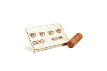 MKM Tools Small debossed Butterfly stamp