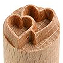MKM Tools Small debossed heart in heart stamp