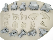Relyef Pottery Tools Set of Animal Footprint 01