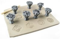 Relyef Pottery Tools Set of Chakras 1 (26mm)
