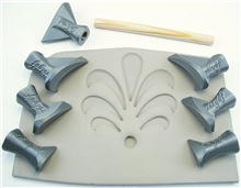 Relyef Pottery Tools Set of Flower Puzzle Set 03