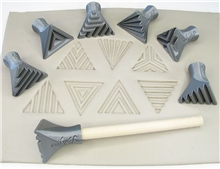 Relyef Pottery Tools Set of Isosceles Triangle Stamps 30mm
