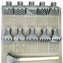 Relyef Pottery Tools Set of Jumbo Square Stamps 30 x 30mm