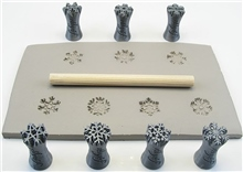 Relyef Pottery Tools Set of Snowflakes 15mm