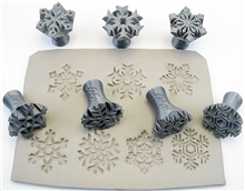 Relyef Pottery Tools Set of Snowflakes 30mm