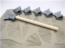 Relyef Pottery Tools Set of Stamps - 15 x 30mm