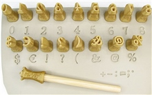 Relyef Pottery Tools Set of Marian Numerals 10mm