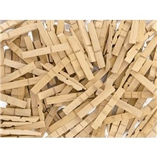 Scarva Half Wooden Clothes Pegs - 100 Pieces