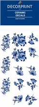 Decorprint Ceramic Decals - Blue Rose