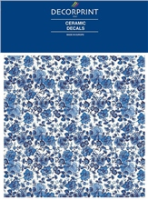 Decorprint Ceramic Decals - Blue Rose Chintz