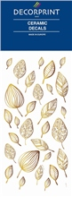 Decorprint Ceramic Decals - Golden Leaves