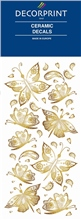 Decorprint Ceramic Decals - Golden Butterflies