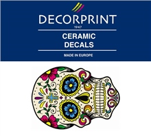 Decorprint Ceramic Decals - Hippie Skull 2