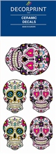Decorprint Ceramic Decals - Hippy Skulls