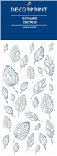 Decorprint Ceramic Decals - Platinum Leaves