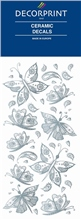 Decorprint Ceramic Decals - Silver Butterflies