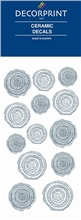 Decorprint Ceramic Decals - Silver Mosaic