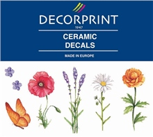 Decorprint Ceramic Decals - Wild Flowers
