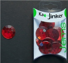 Scarva Faceted Round - Red - Ka-Jinker Jems