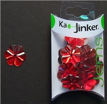 Scarva Faceted Flower - Red - Ka-Jinker Jems