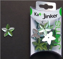Scarva Faceted Star - Light Green - Ka-Jinker Jems