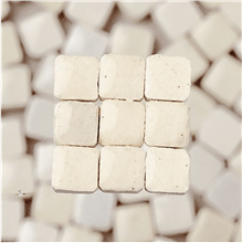 Scarva Mini Mosaic Ceramic Tiles, White, 2295601, 150-Piece