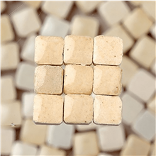 Scarva Mini Mosaic Ceramic Tiles, Cream, 2295602, 150-Piece