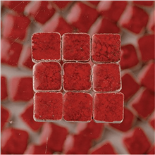 Scarva Mini Mosaic Ceramic Tiles, Red, 2295628, 150-Piece