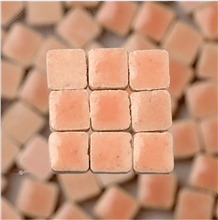Scarva Mini Mosaic Ceramic Tiles, Light Pink, 2295632, 150-Piece