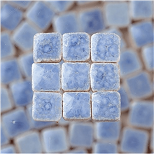 Scarva Mini Mosaic Ceramic Tiles, Light Blue, 2295647, 150-Piece