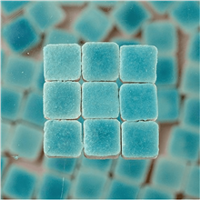 Scarva Mini Mosaic Ceramic Tiles, Turquoise, 2295655, 150-Piece
