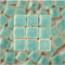 Scarva Mini Mosaic Ceramic Tiles, Reseda Green, 2295656, 150-Piece