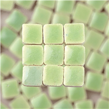 Scarva Mini Mosaic Ceramic Tiles, Light Yellow Green, 2295661, 150-Piece