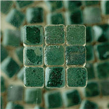 Scarva Mini Mosaic Ceramic Tiles, Green, 2295667, 150-Piece