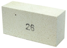 High Tempature Insulating Bricks - B26 (230mm x 114mm x 76mm) by Scarva Kilns