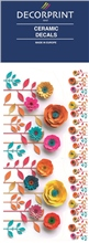 Decorprint Ceramic Decals - Paper Flower
