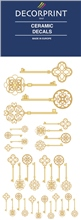 Decorprint Ceramic Decals - Golden Door Key